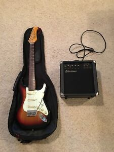 Electric Guitar, Case and Amp