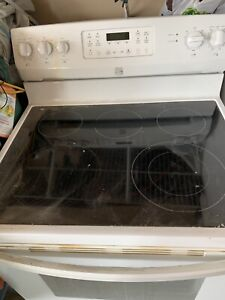Kenmore electric stove glass top conventional oven