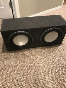 Two 10 inch subs and box 200$ OBO