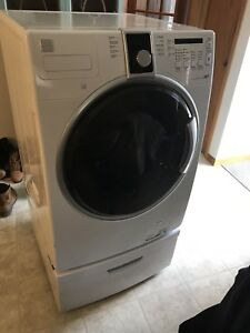 Kenmore washer plus storage pedestal