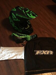 FXR Helmet and goggles