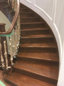 Flooring installation and stairs