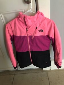 Girls north face winter coat size 6