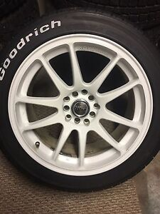 """Set of 4 17"""" R-Spec Stag rims with like new tires"""