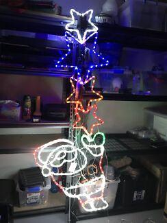 LED Ropelight Santa with Stars