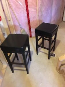 "Two stools 30"" high"