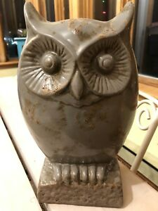 Indoor/outdoor ceramic owl