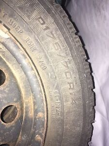 4x 175/70R14 winter tires with rims