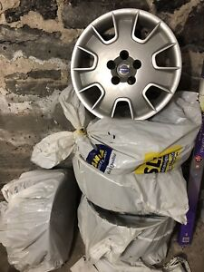"Volvo hub caps and rims set of 4  16"" inch"