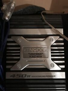 """KENWOOD Subwoofer Amplifier with 10"""" Punch Rockford Fosgate Sub"""