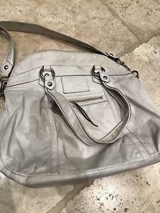 White Leather Coach Purse