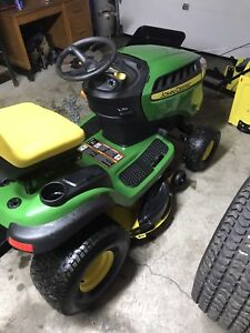 John Deere with all attachments!!! Blower trailer cab seeder!!!
