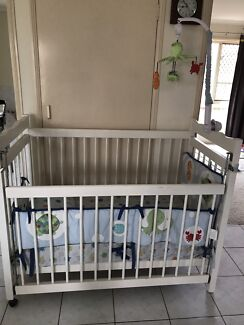 Baby cot with mattress going cheap