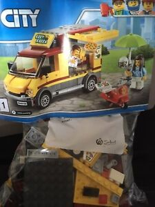 LEGO CITY PIZZA TRUCK WITH MOTOR BIKE