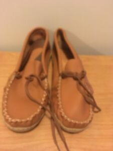 Size 12 real moccasin slippers- OBO