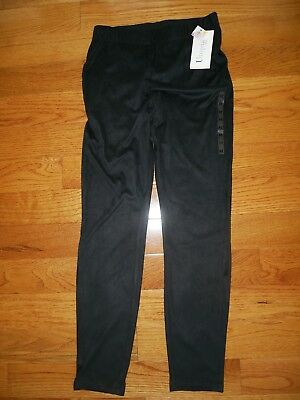 Utopia by HUE Suede Skimmer Leggings Small Medium Large NEW Black Suede Skimmer