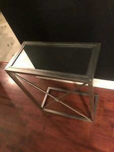 MATCHING SIDE TABLES (MIRROR TOP)  / COFFEE TABLES