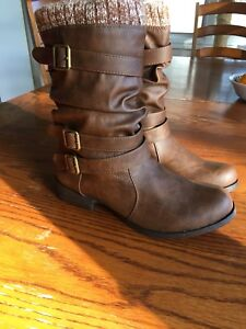 Size 10 Nafise Cognac Booties (fit like a size 8/9)