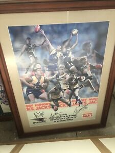 Signed west coast eagles poster framed Tallai Gold Coast City Preview
