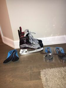 BAUER 1X Size 9 SKATES + Step and Ls3 Steel