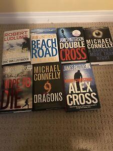 6 hardcover mystery books