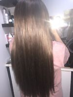 Get luxurious long hair today only at flirt hair and spa