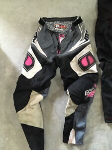 Dirt bike pants/jerseys and gloves