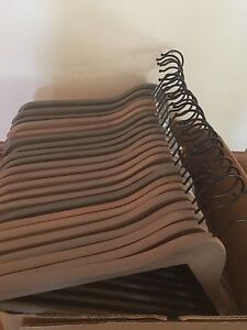 Bulk wooden hangers - all matching! Redcliffe Belmont Area Preview