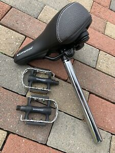 Schwinn Bike Seat + Post and Pedals