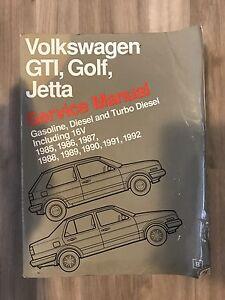 Volkswagen GTI, Golf, Jetta Bentley Repair Manual