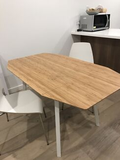 IKEA Dropleaf Extendable Table & two chairs