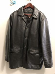 Beautiful Danier Men's 3/4 Length Leather Jacket - Ex. Condition