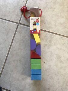 Various items, blocks, books, puzzles