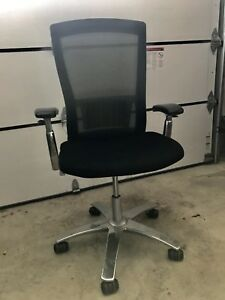 Black chrome computer office chair