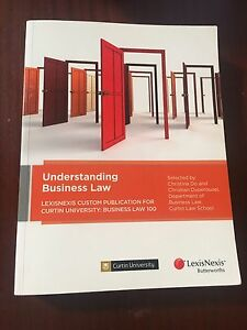 Understanding business law (BLAW) commerce textbook Warwick Joondalup Area Preview