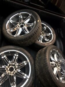 """23"""" rims with tires"""