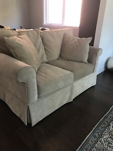 Set of 2 couch loveseat sofa causeuse