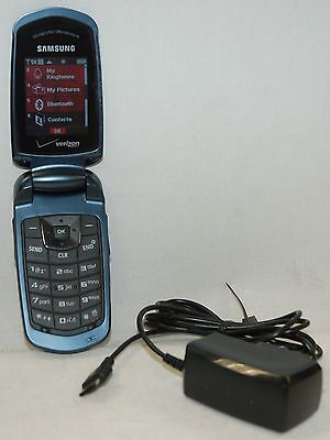 Samsung Smooth Verizon Flip Cell Phone SCH-U350 Prepaid Mobile BLUE NO CONTRACT