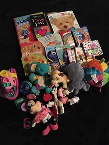 Bag it toys and Baby's cardboard books