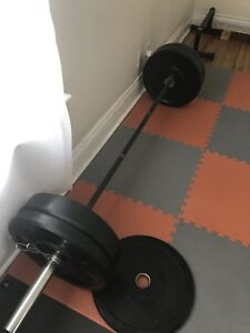 Olympic weights and barbell set:  $200