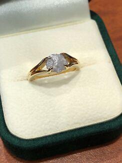 1.38ct Rough Uncut Diamond Ring - Bespoke Design