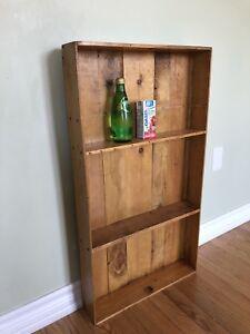Vintage Barnboard Mini Bookcase - Shelving Unit