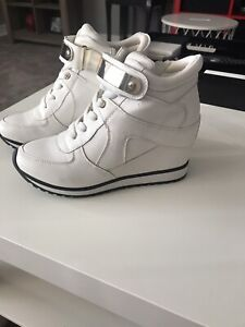 5d1b27aa577 Like new white sneaker wedge shoes worn once!