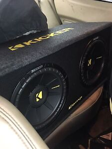"""2 12"""" Kicker comp Subs with matching box & amp!"""