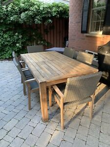 Teak Line patio table and chairs
