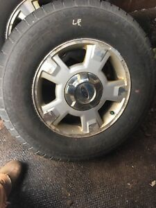 Tires and rims off  f150