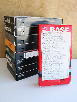Blank VHS Tapes Home Recordings VCR Tape Vintage See Photos Lot of 9