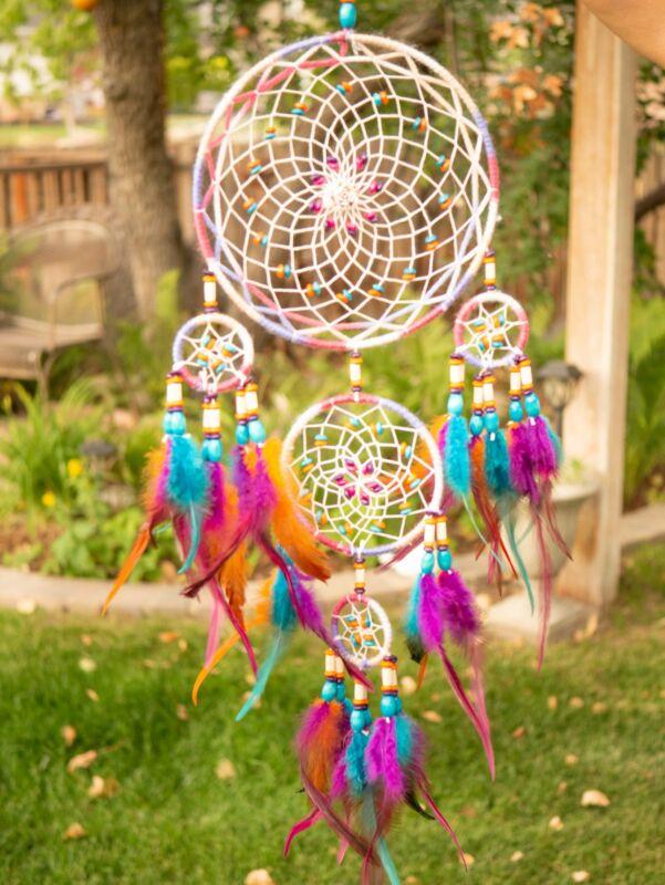 Gaia Rainbow Dreamcatcher Native American Dreamcatcher Dream Catcher & Wall Hang