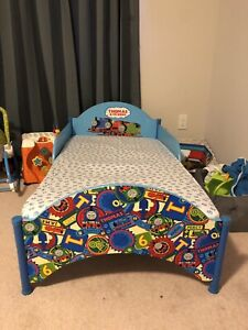 Thomas the train toddler bed with toy storage box