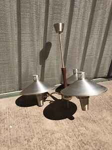 1960s Triple Branch Flying Saucer Ceiling Light in Excellent Condition